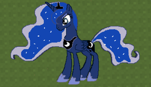 Princess Luna Pixel Art by CrazedWD