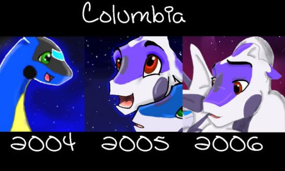 Columbia-trough the years by SaddlePatch