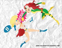 DAY 11 GIRL FIGHT: MARVEL vs DC by ViciousJulious