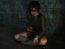 Portrait of a Troubled Girl by curious3d