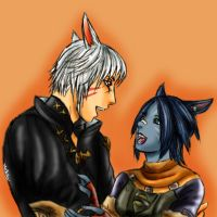 Male and Female Miqo'te (Jack + Jill Mcflurry) by Peipei22