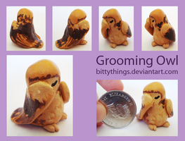 Grooming Owl - SOLD by Bittythings