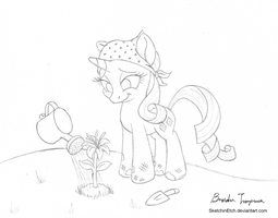 Rarity Tries Something New - Day 8 by SketchinEtch