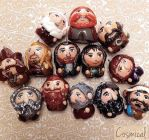 The Hobbit: Dwarves Chibi Charms by Comsical
