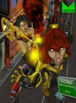 Wonder Woman vs Giganta by wondermanrules