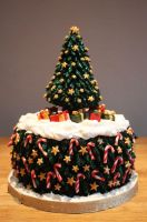 Christmas Tree Christmas Cake by KatesKakes