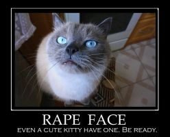 Rape face. by KatInTideland