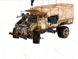 the convoy leader sketch color by CosmOSmocker