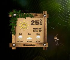 Nature Weather for xwidget by jimking