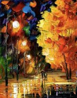 MISTY GLOW - Oil Painting On Canvas by Leonidafremov