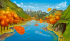 Flash mob_Landscapes_Mountain lake by Stasushka