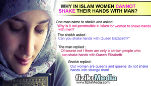 Why muslim women cannot shake hands with men? by fizikrMedia