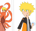 naruto vs true form of nine tails hokage test by AskJetTheRider