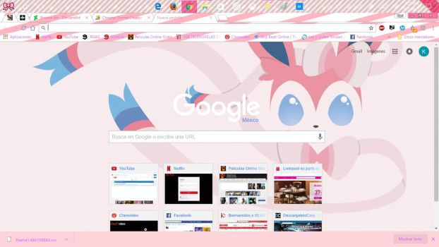 Sylveon Theme by pinkwonderlandKari