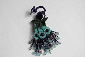 The Peacock brooch by 3zolushka