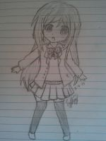 Chibi School Girl Sketch by Luhanswifeee