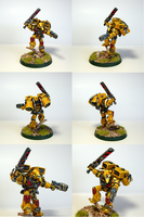 Imperial Fist Vanguard Veteran by Belazikkal
