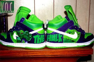 incredible hulk shoes by LilRad