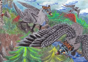 Griffon Beasts by kxeron