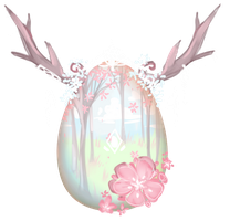 [CLOSED] Winged Deer Mystery Egg {AUCTION} by maruuneko