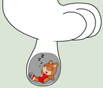 Squirrel sleeping inside Suzy's sock by Enophano