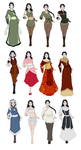 Omora Outfits by FlameFireheart