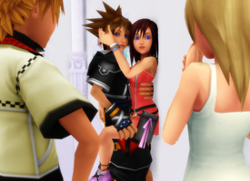 MMD KH- Caught - SoKai (Slight RoxNami) by XxChocolatexHeartsxX