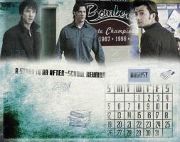 SuperWhoLock Calendar: August by 14LolaLoverX3