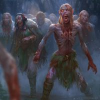 elven zombie horde by texahol