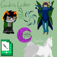 Homestuck OC: Gadris Leiker Reference Sheet by GG3095