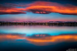 Sunrise Over The Front Range by kkart