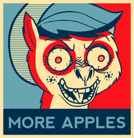 Applejack wants more apples by Omolonuem