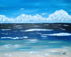 Day at the Beach Set 1 Acrylic by EsperAqua