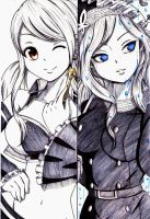 LUCY and JUVIA by esbelle
