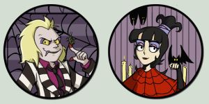Beetlejuice Button by amasugiru