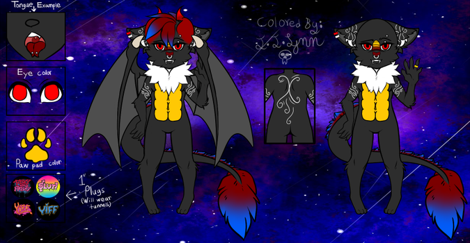 Lyle's first Ref Sheet! by LilithStar1210