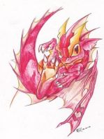Baby red dragon by Edheloth