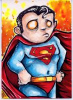 SuperMan Sketch card Commission by dsilvabarred