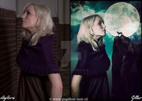 Before and After Moon Admirer by Papillon-Noir-Art