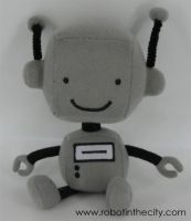 Robot in the City - Plush by soks2626