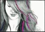 Ballpoint Feathergirl by Cindy-R
