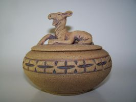 Carved Covered Moose Vessel by RenaissanceMan1