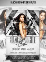 Black and White Bash PSD Template by AddictedToLucid