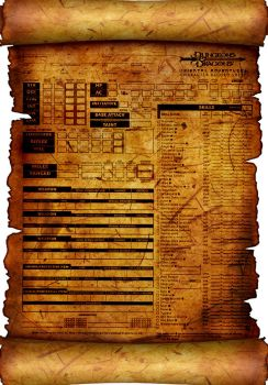 DND character sheet 1 by Luced0