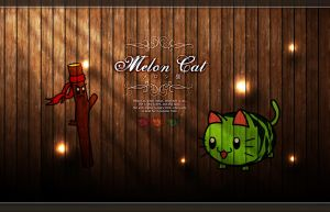 Melon Cat by The-8th-Sin