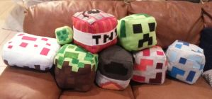 Minecraft Plush Cubes by enchanted-enigma