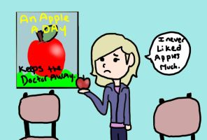 An apple. by The5IsSi5lent