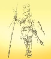 Paladin Concept Sketch WIP by Jack-Kaiser