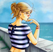 By the sea by Lady-ObsidiAnne