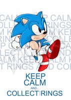 Keep Calm and Collect More Rings SONIC by brohq
